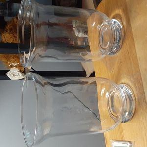 2 Large Hurricane Vases. SKU:50570.